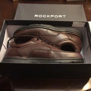 Rockport brown leather shoes size 10M